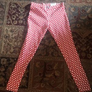 Hue red polka dot leggings